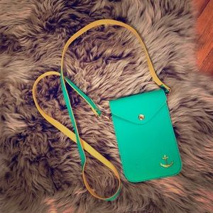 ✨Small Green & Yellow Crossbody Anchor Wallet